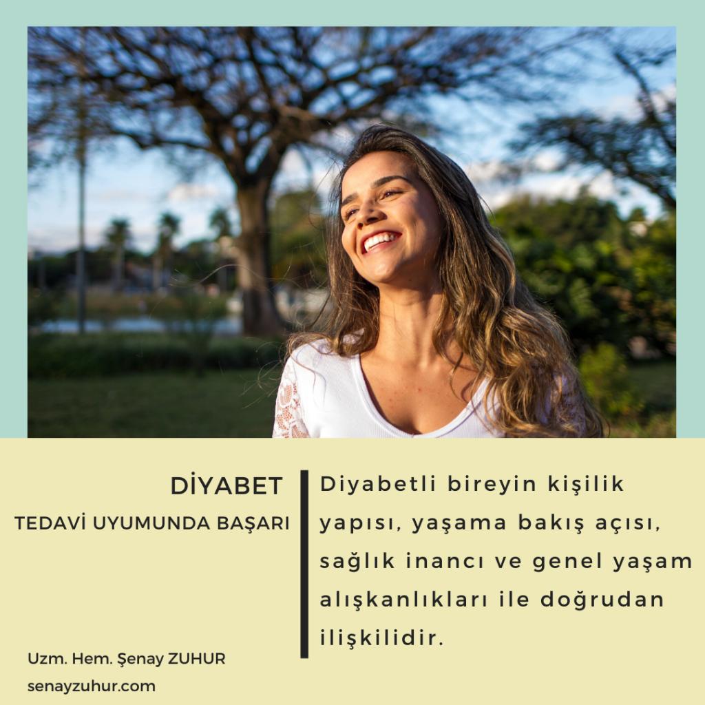 Diyabet öz yönetimi ve tedavi uyumunda başarı önemlidir.